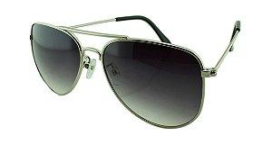 Óculos Solar Unissex Aviador A Prata e Fumê