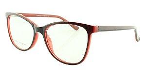 Armação para Óculos de Grau Feminino 322A Preta e Vermelha