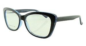Armação para Óculos de Grau Feminino 323A Preta e Azul