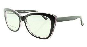 Armação para Óculos de Grau Feminino 323A Preta e Roxa