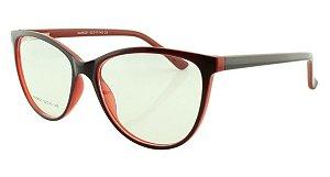Armação para Óculos de Grau Feminino 321A Preta e Vermelha