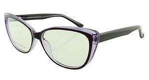 Armação para Óculos de Grau Feminino 315A Preta e Roxa