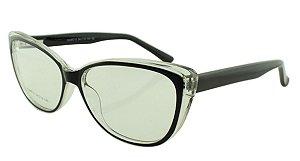 Armação para Óculos de Grau Feminino 315A Preta e Transparente