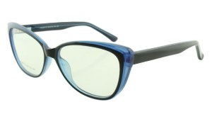 Armação para Óculos de Grau Feminino 315A Preta e Azul
