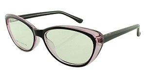 Armação para Óculos de Grau Feminino 314A Preta e Rosa