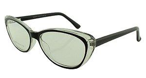 Armação para Óculos de Grau Feminino 314A Preta e Transparente