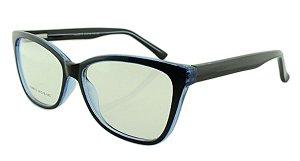 Armação para Óculos de Grau Feminino 313 Preta e Azul