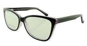 Armação para Óculos de Grau Feminino 313 Preta e Lilás