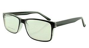 Armação para Óculos de Grau Masculino 320 Preta e Transparente