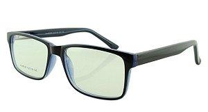 Armação para Óculos de Grau Masculino 320 Preta e Azul