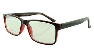 Armação para Óculos de Grau Masculino 320 Preta e Vermelha