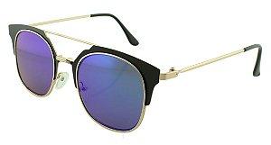 Óculos Solar Feminino Sortido NY9002 Verde e Azul Espelhado