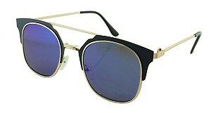 Óculos Solar Feminino Sortido NY9002 Azul Espelhado