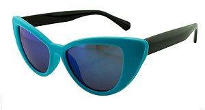 Óculos Solar Feminino NY8888 Azul Claro Espelhado