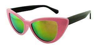 Óculos Solar Feminino NY8888 Rosa Claro Espelhado