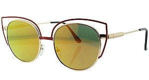 Óculos Solar Feminino NY8964 Laranja Espelhado