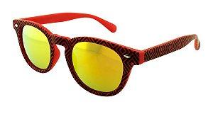 Óculos Solar Unissex NY9117 Vermelho Espelhado