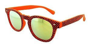 Óculos Solar Unissex NY9117 Laranja Espelhado