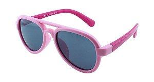 Óculos Solar Infantil Polarizado em Nylon Flexível T1759 Rosa Claro