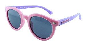 Óculos Solar Infantil Polarizado em Nylon Flexível T1508 Rosa e Lilás