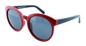 Óculos Solar Infantil Polarizado em Nylon Flexível T1655 Vermelho e Preto