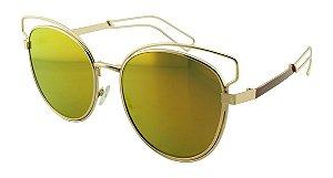 Óculos Solar Feminino NY8968 Laranja Espelhado