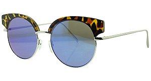 Óculos Solar Feminino NY9097 Azul Espelhado