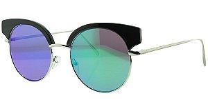 Óculos Solar Feminino NY9097 Verde Espelhado
