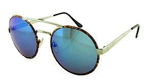 Óculos Solar Unissex Sortido NY9102 Azul Espelhado