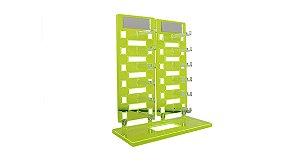Expositor Torre para 12 Óculos com Espelhos EP12 Verde