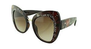 Óculos Solar Feminino Primeira Linha 4319 Marrom