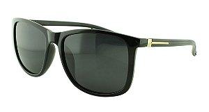 Óculos Solar Masculino Polarizado TR5886 Preto