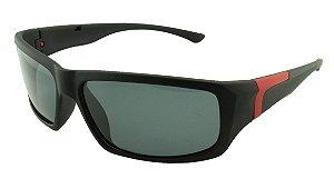 Óculos Solar Masculino Primeira Linha Polarizado P6502 Preto e Vermelho