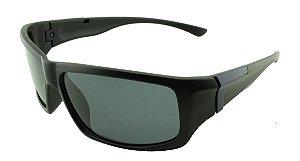 Óculos Solar Masculino Primeira Linha Polarizado P6502 Preto e Azul