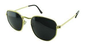 Óculos Solar Unissex Primeira Linha 5449 Dourado e Preto