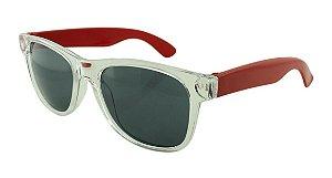 Óculos Solar para Brinde Unissex 743S Transparente com Vermelho (SOB ENCOMENDA)