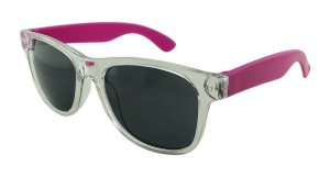 Óculos Solar para Brinde Unissex 743S Transparente com Rosa (SOB ENCOMENDA)