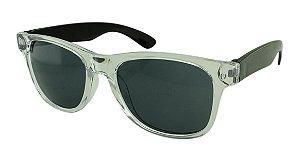 Óculos Solar para Brinde Unissex 743S Transparente com Preto (SOB ENCOMENDA)