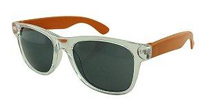 Óculos Solar para Brinde Unissex 743S Transparente com Laranja (SOB ENCOMENDA)