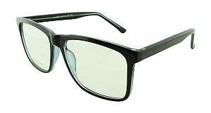 Armação para Óculos de Grau Unissex 55 Preta