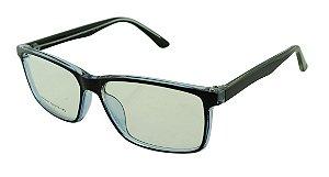 Armação para Óculos de Grau Masculino 47 Preta e Azul
