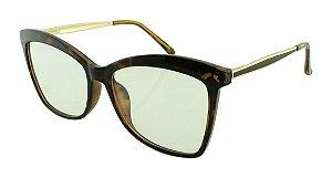Armação para Óculos de Grau Feminino TR7261 Marrom Onça