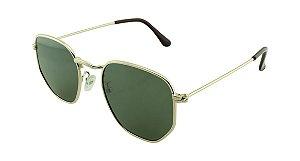 Óculos Solar Unissex Primeira Linha 5449 Dourado e Verde