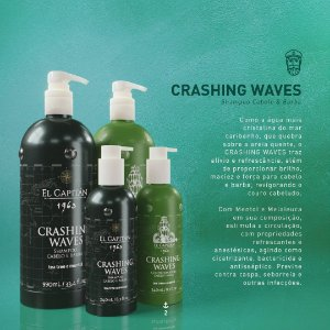 Shampoo masc cabelo/barba Crashing Waves 990ml El Capitán