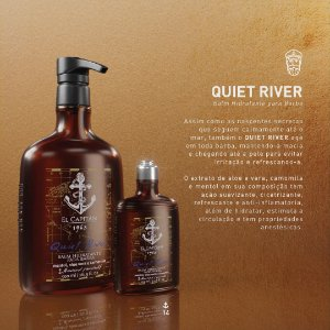 Pós barba Balm Shave Quiet River 500ml El Capitán