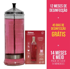 Kit 12 meses + 45 dias | Jarro 1,2 litro + 54 Biocide Donna 30ml