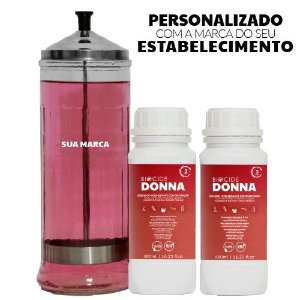 Kit  Jarro 1,2 litro personalizado e 2 Biocide Donna Líquido Higienizante Concentrado 480 ml
