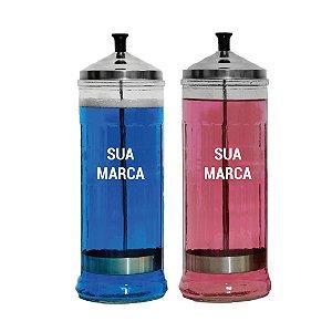 Personalização de jarro - adesivo 8x8cm