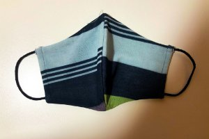 Máscara de tecido lavável camada dupla cinza e preta Biocide