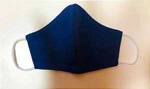 Máscara de tecido lavável camada dupla azul marinho Biocide